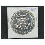 1967 Proof 25 Cent Kennedy Half Dollar 40% Silver