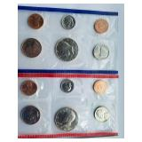 1989 uncirculated coin set with D and P mint marks