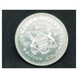 1971 British Columbia Silver Dollar and case 50% Silver