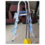 Pool ladder and 2 paddles