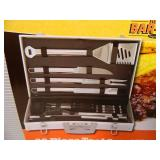 New 30 Piece BBQ Tool Set with Aluminum Case