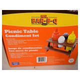 New Picnic Table Condiment Set