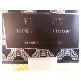 2 New Vintage Acrylic Throws