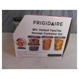 New Frigidaire 8 Piece TwisTite Storage Container Set