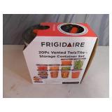 New Frigidaire 20 Piece TwisTiye Storage Container Set