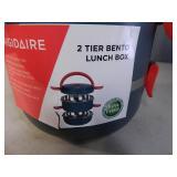 New Frigidaire 2 Tier Bento Lunchbox