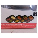 New 4 Pc Sectioned Storage Container Set