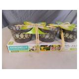2 New 3 Packs of Citronella Candles