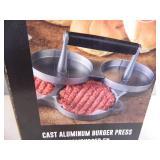 New Charbroil Cast Almunium Burger Press
