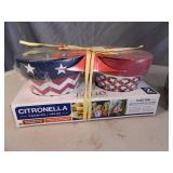 3 New Packs of 2 Citronella Candles
