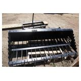 "Universal Mount Bobcat Skid Loader Skid Steer 72"" Rock Bucket"