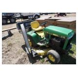 John Deere Model 318 Garden Tractor Lawn Mower With Rear Bagger
