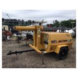Amida 7000 Series Tow Behind Diesel Powered Light Tower Generator With Hydraulic Raise/Lower Telescoping & Rotating Boom