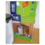 Real Solutions for Real Life 20 in. H x 14 in. W x 13 in. D Plastic In-Cabinet Pivot Out Trash Can in Silver