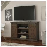 "NEW - Flat Screen TV Stand 54"" Entertainment Center Barn Wood Door AV Media Console"