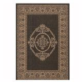Home Decorators Collection Antique Medallion Black and Cocoa 4 ft. x 5 ft. Area Rug