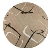 Home Decorators Collection Fragment Dark Sand 8 ft. x 8 ft. Round Area Rug