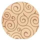 Home Decorators Collection Whirl Cocoa/Natural 9 ft. Round Area Rug