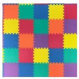 Ottomanson Multi-Purpose Multi-Color 12 in. x 12 in. EVA Foam Interlocking Anti-Fatigue Exercise Tile Mat (25-Pack)