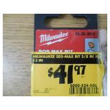 Milwaukee 5/8 in. x 13 in. SDS-Max Carbide Bit