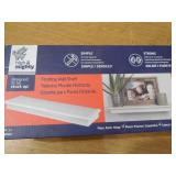 (2) High & Mighty 18 in. x 6 in. D Tool Free Floating Shelf in Black & White