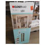 ClosetMaid Style+ 14.7 in. D x 16.97 in. W x 82.46 in. H Coastal Teak Melamine Floor Mount 6-Shelf Tower Wood Closet System