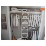ClosetMaid Style + 15 in. D x 17 in. W x 82 in. H White Melamine Floor Mount 6-Shelves Closet System