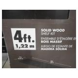 ClosetMaid 12 in. x 48 in. Solid Wood Shelf Kit in Espresso