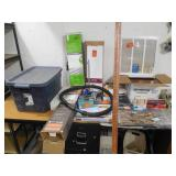 Massive assorted supply lot with tote