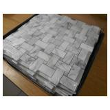 MSI Calacatta Cressa Basket Weave 12 in. x 12 in. x 10mm Honed Marble Mesh-Mounted Mosaic Tile (10 sq. ft. / case)
