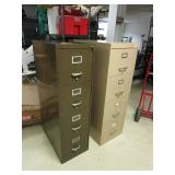 TWO METAL FILING CABINETS