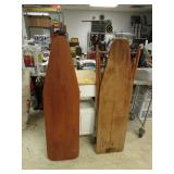 TWO VINTAGE IRONING BOARDS