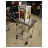METAL ROLLING TABLE AND BEVERAGE DISPENSER