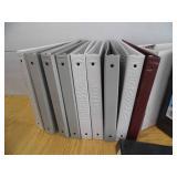 Lot of 3 Ring Binders - Folders