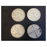 4 - 1961 Franklin Half Dollars