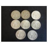 8 - Kennedy Half Dollars