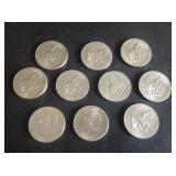 10 - Eisenhower Dollars