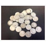 31 - Roosevelt Dimes 90% Silver