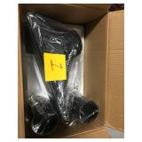 Architectural Mailboxes Roxbury Black Steel Post Mount Mailbox and Premium Steel Post Combo in good condition