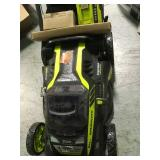 """Ryobi. 20"""" RY40190 40-Volt Brushless Lithium-Ion Cordless Battery Self Propelled Lawn Mower with 5.0 Ah Battery and Charger Included in good condition"""
