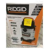 RIDGID 6 Gal. 4.25-Peak HP Stainless Steel Wet Dry Vac in good condition