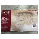 Home Decorators Collection 11.5 in. 3-Light Polished Chrome and Crystal Drum Shape Flush Mount in good condition