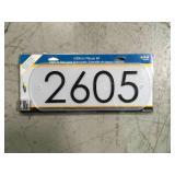 Hillman 847384 Address Plaque  in good condition