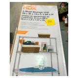 HDX 54 in. H x 36 in. W x 14 in. D 4 Shelf Wire Unit in Chrome in good condition