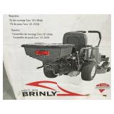 Brinly-Hardy Rear Mounted ZTR Spreader in good condition