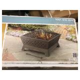 Hampton Bay  Tipton 34 in. Steel Deep Bowl Fire Pit in Oil Rubbed Bronze with Cover not used