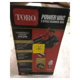 Toro 150 MPH 460 CFM 25.4cc 2-Cycle Handheld Gas Leaf Blower Vacuum in good condition