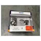 Schlage Camelot Satin Nickel Electronic Door Lock Deadbolt with Accent Door Lever in good condition