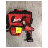 Milwaukee M12 12-Volt Lithium-Ion HACKZALL Cordless Reciprocating Saw BATTERY & CHARGER INCLUDED, BAG in good condition