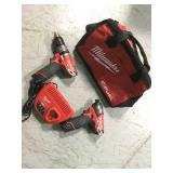 Milwaukee M12 12-Volt Lithium-Ion Cordless Drill Driver/Impact Driver Combo Kit (2-Tool) in good condition